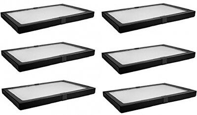 6 Pack Riker Style Display Case Box 8x12x.75 Shadow Collection Foam Jewelry New
