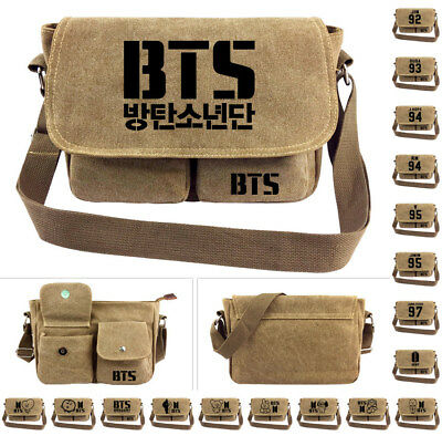 Kpop Korea Boys Shoulder Messenger Bag Canvas Casual Bags Cosplay Geschenk SS