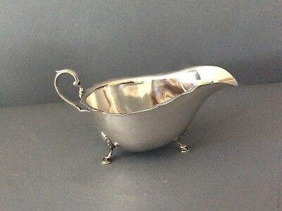 Antique Solid Silver Sauce Boat or Cream Jug