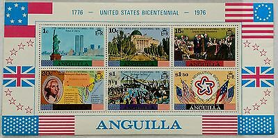 123.anguilla 1976 Stamp S/s United States Bicentenial, Flags,famous People.mnh