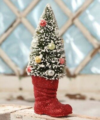 NEW Bethany Lowe CHRISTMAS TREE IN BOOT Tabletop AUTHORIZED DEALER