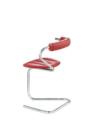 Stefan Wewerka / B5 Red Leather Cantilever Chair (1982) /Bauhaus design by TECTA
