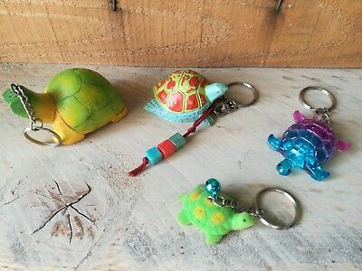Lot de 4 tortues porte clés