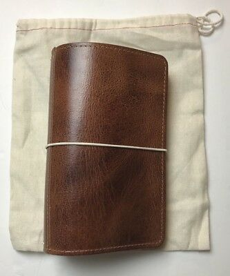 Foxy Fix Sandstorm Leather Wide Size No. 4 Travelers Notebook