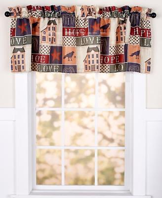 Rustic Country Primitive Collage Bathroom Or Kitchen Window Curtain Valance