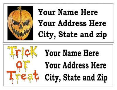 30 Halloween  Return Address Labels Many Choices Free Shipping