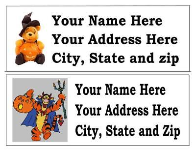 30 Disney Halloween  Return Address Labels Many Choices Free Shipping