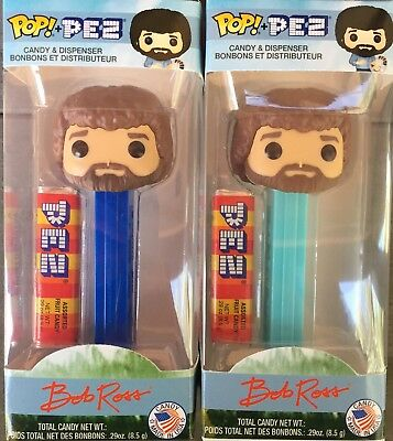 Funko POP! Pez Bob Ross Set of 2 - Different Stems - Target Exclusive