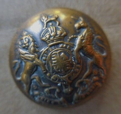 British Royal Coat Of Arms Military Uniform Brass Button