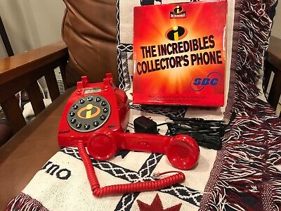 Disney Pixar The Incredibles SBC Red Collector's Phone in Box with Instructions