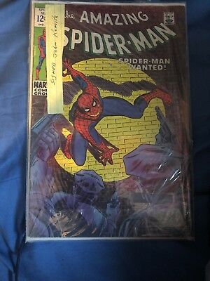 The Amazing Spider-Man #70 (Mar 1969, Marvel) singed by John Romita !
