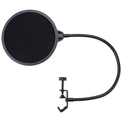 """6"""" Studio Microphone Mic Pop Filter Wind Screen with 2 Layers Swivel Mount"""