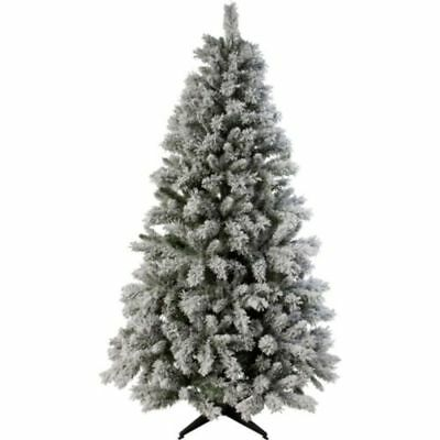 Snow Covered Effect Green Artificial Classic Shape XMAS Christmas Tree - 7ft