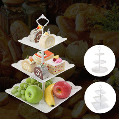 3 Tier Cake Stand Afternoon Tea Wedding Plates Party Embossed Tableware AU