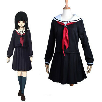 Enma Ai Hell Girl Cosplay Japanese School Student Uniform For Halloween Costume