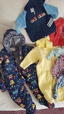 10 x BABY BOY CLOTHES BUNDLE 9-12 MONTH H&M, George, Adidas & other brands
