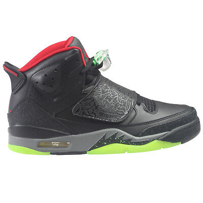 watch 82128 c59b0 Jordan Son Of Mars Mens 512245-006 Black Green Pulse Red Grey Shoes Size 9
