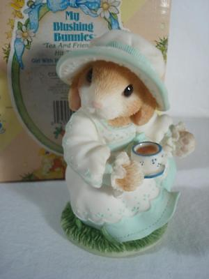 1998~Enesco~My Blushing Bunnies~Tea & Friendship Hit The Spot~#351040~w/Box