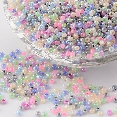 2000 PERLES DE ROCAILLE MULTICOLORE PASTEL Ø 2 mm 12/0 CREATION BIJOUX