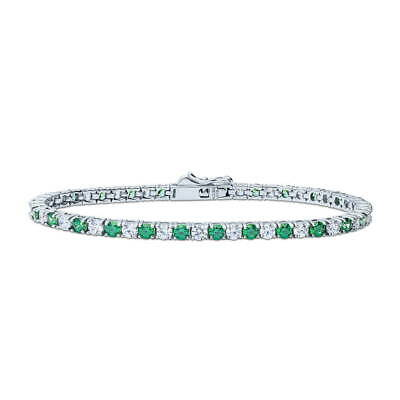 BERRICLE Sterling Silver Fashion Tennis Bracelet  Set with Swarovski Zirconia