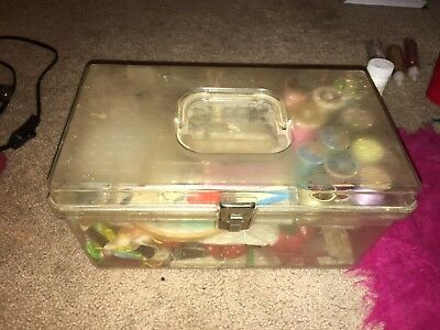Vintage Sewing Box With Vintage Sewing Materials