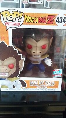 Funko Pop Great Ape Vegeta MAJIN NYCC 2018 exclusive hot topic DRAGON BALL Z DBZ