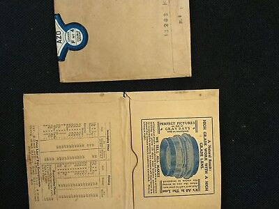 1920's Photographic Paper empty packages and photo folder