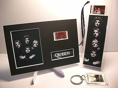QUEEN 3 Piece Movie Film Cell Memorabilia Collection Compliments dvd poster cd