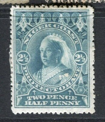 NIGER COAST; 1894-5 early classic QV issue Mint hinged 2.5d. value