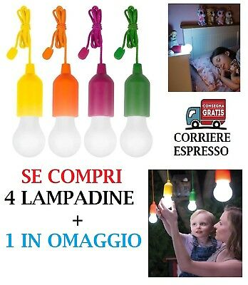 Lampadina Led Colorata Senza Fili Portatile Handy Lux Colors Vista In Tv