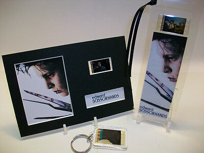 Edward Scissorhands 3 Piece Movie Film Cell Memorabilia Collection Gift Set Lot