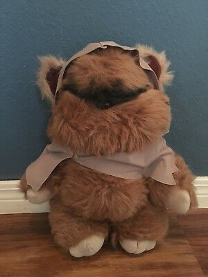 """Vintage Kenner 14"""" Wicket the Ewok Plush With Robe Excellent"""