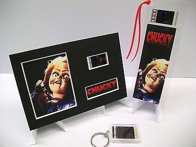 CHUCKY 3 Piece Movie Film Cell Memorabilia Complements dvd poster book