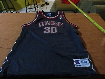 Kerry Kittles  30 New Jersey Nets Vintage Champion Jersey Size Youth XL NBA f1da67d58
