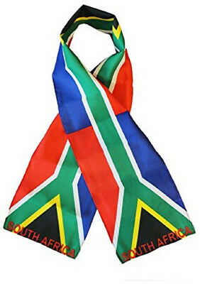"South Africa Country Lightweight Flag Printed Knitted Style Scarf 8""x60"""