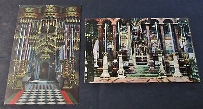 Early 2 Postcards Views of Church of the Holy Sepulchre Unused
