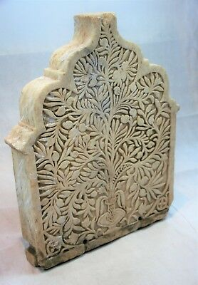An Antique Indian Carved Marble Panel Sculpture