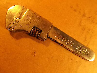 """Frank Mossberg 1900 Sterling Bike Bicycle Wrench Tool 4"""" Adjustable Wrenches"""