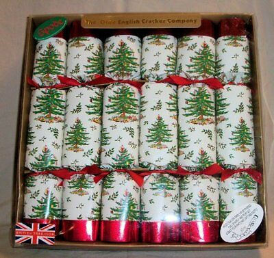 SPODE The Olde English Cracker Co. Set of 6 Christmas Tree Crackers