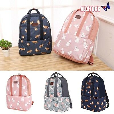 Boho Girls Kids Backpack Women Canvas Travel Bookbags School Bags Printing