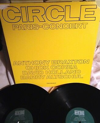 CIRCLE PARIS CONCERT Anthony Braxton, Chick Corea Dave Holland. ECM 2 LP NM/EX