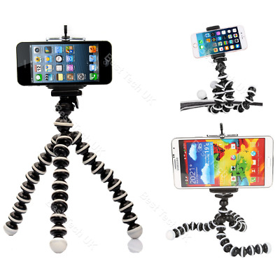 For Apple iPhone 8 Plus Tripod Flexible Bendy Gorilla Octopus Selfie Mount Stand