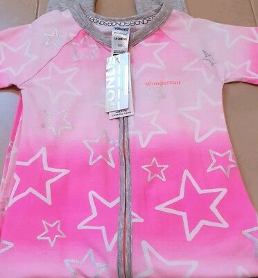 Bonds Pink Wandering Star Short Sleeve Wondersuit Size 2 Nwt!