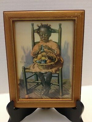 """A Woman's Work Is Never Done"" Print by Harry Roseland African American Art Vint"
