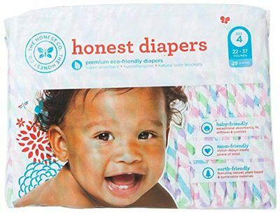 The Honest Company Disposable Baby Diapers, Chevron, Size 4, 29 ct