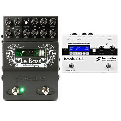 Two Notes Audio Engineering LeBass Preamp Pedal w/ Torpedo CAB Speaker Simulator
