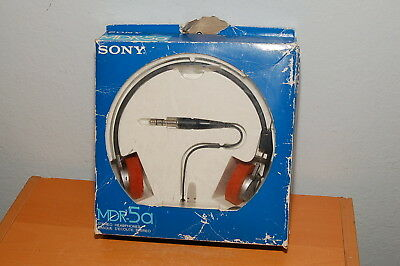 RARE Sony MDR-5a Stereo Dynamic Headphones Rare Collectible Authentic w/ Box