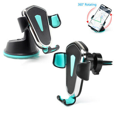 360° Universal Gravity Car Holder Air Vent Dashboard Mount Stand For Cell Phone