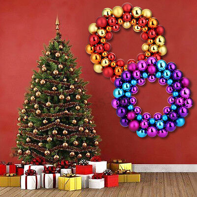 Christmas Large Balls Wreath Wall Door Hanging Ornament Garland Xmas Party Decor