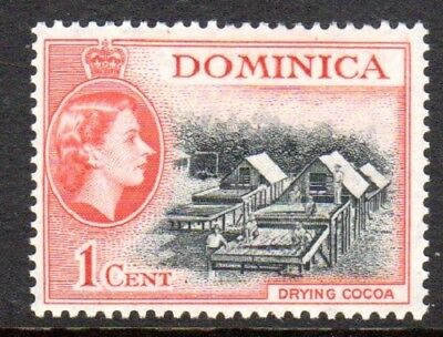 1954-62 DOMINICA 1c drying cocoa SG141 mint unhinged